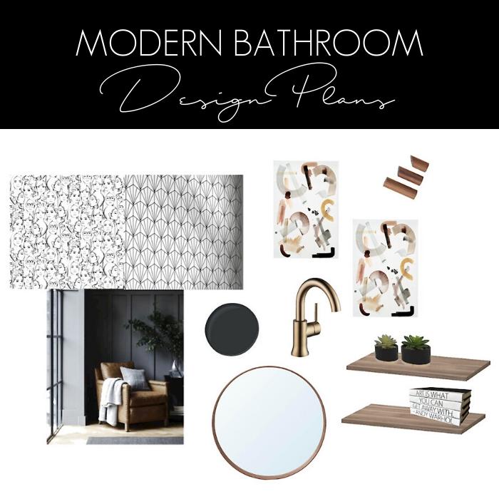 modern bathroom design board