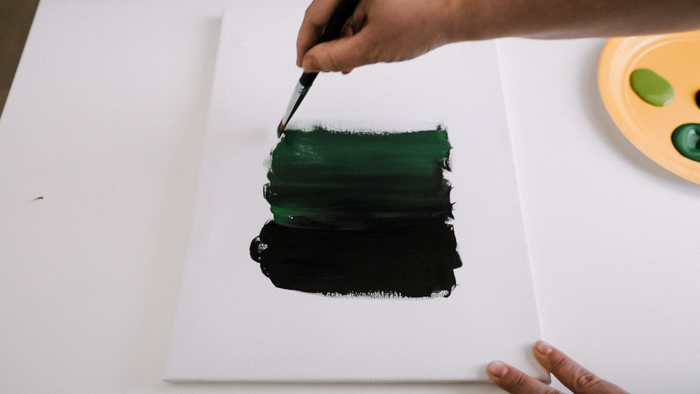 how to layer paint colours on a canvas