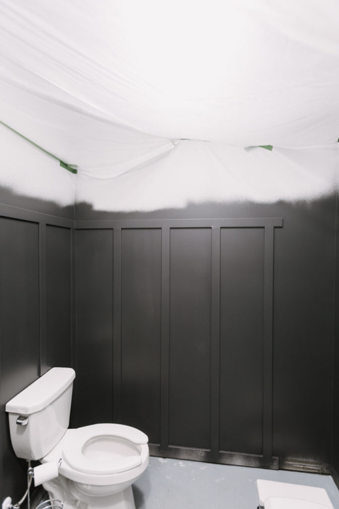 room when finished sprayer