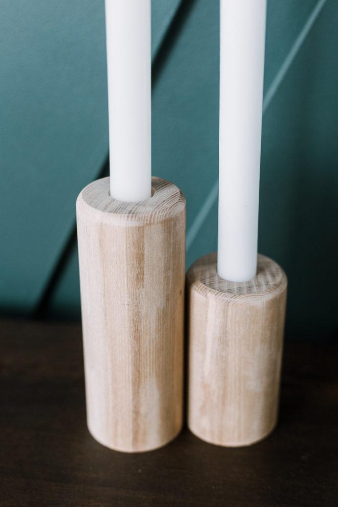 gorgeous modern farmhouse DIY candlesticks