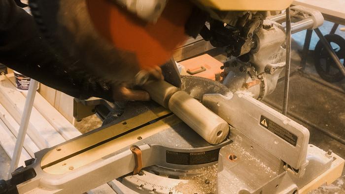 cutting a rolling pin