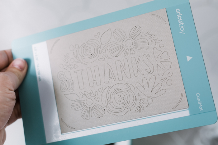 Thank you card with florals