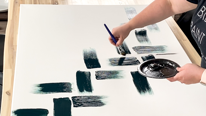 How to use textured paint on abstract canvas