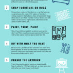 Infographic with 8 ways to redecorate for free