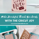 "Collage of card making photos with text reading ""make beautiful thank you cards"""