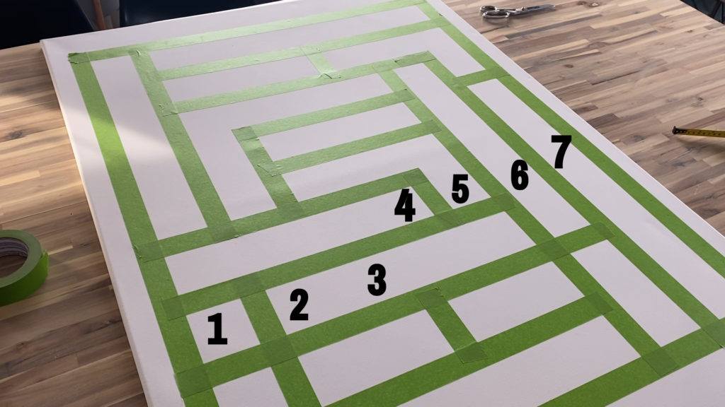 how to create a grid and paint with frog tape