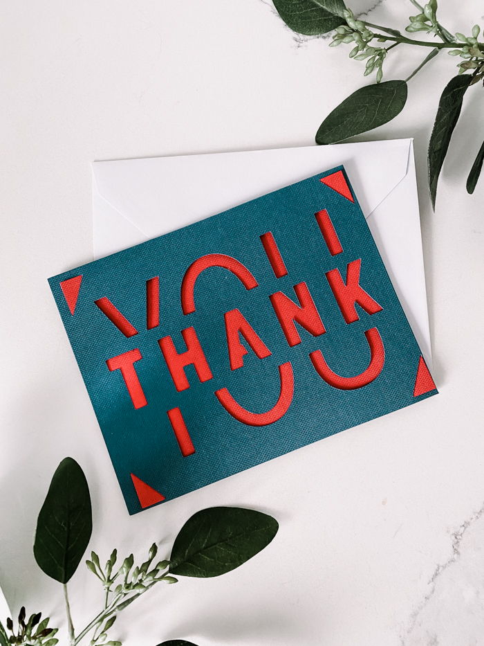 Cricut Thank you card design