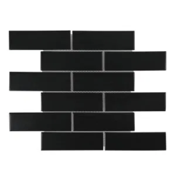 Mini black subway tiles