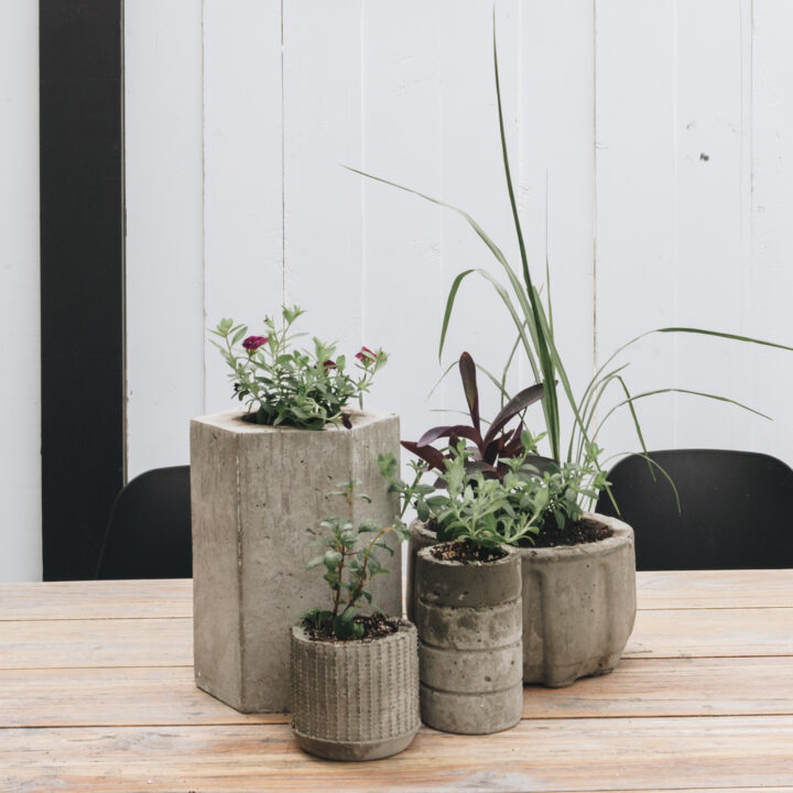 DIY modern planter ideas