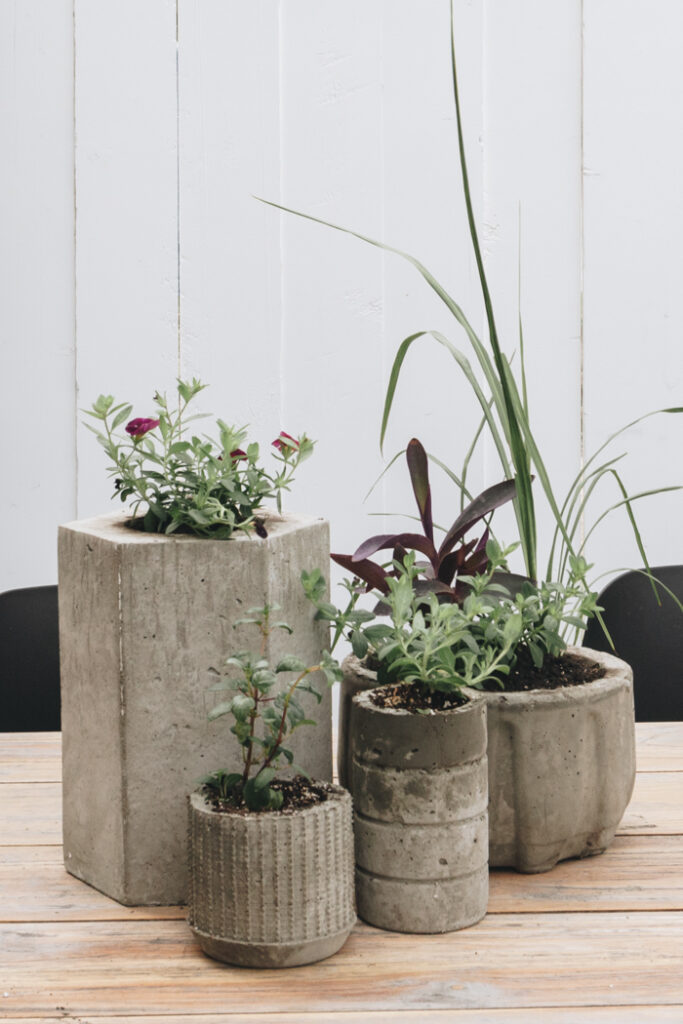 DIY concrete planter ideas
