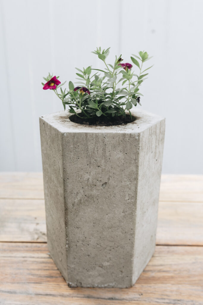 DIY hexagon planter