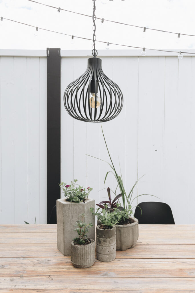 DIY concrete planter ideas at home