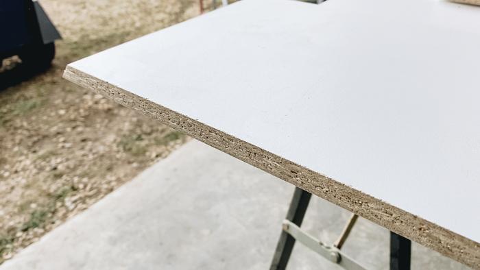 melamine for concrete planter molds