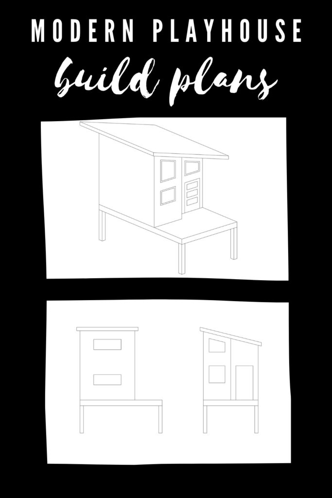 playhouse design plans for modern kids playhouse