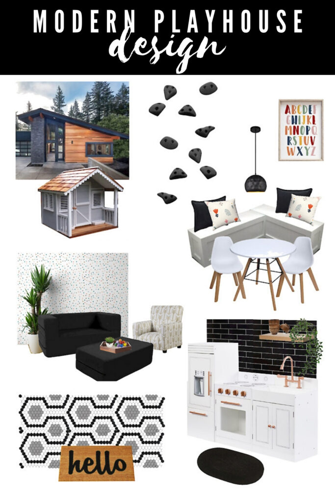 Kids playhouse mood board