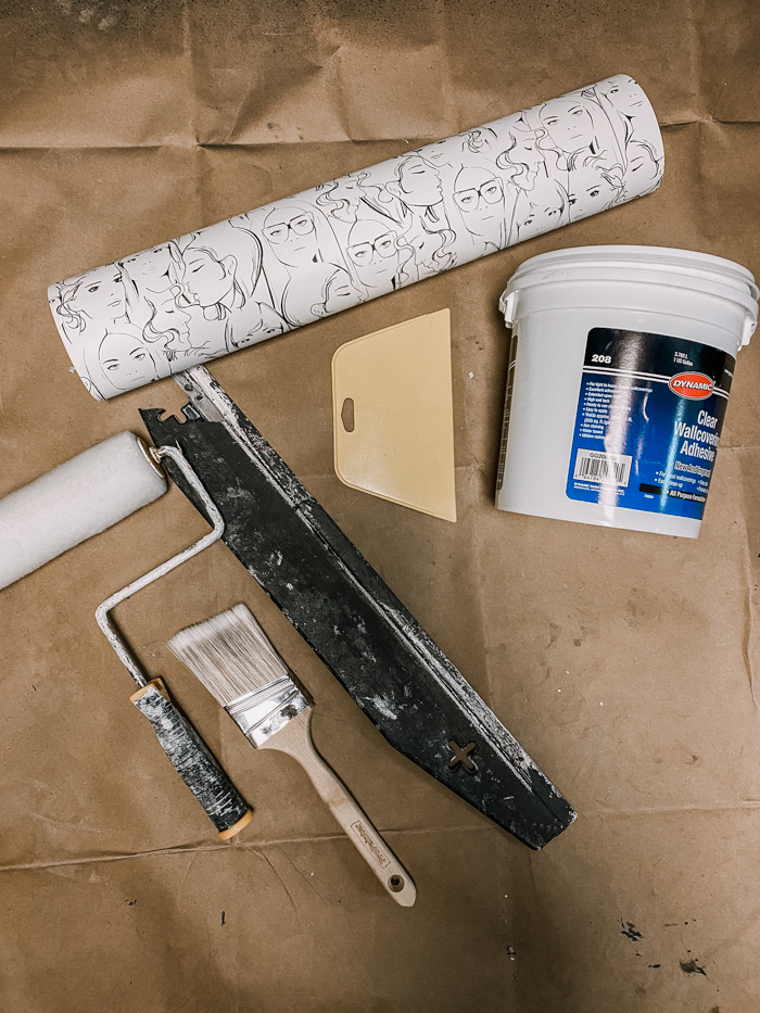 Tools needed for paste the wall wallpaper
