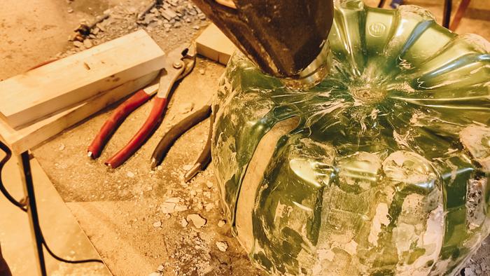 Using a heat gun to make planters