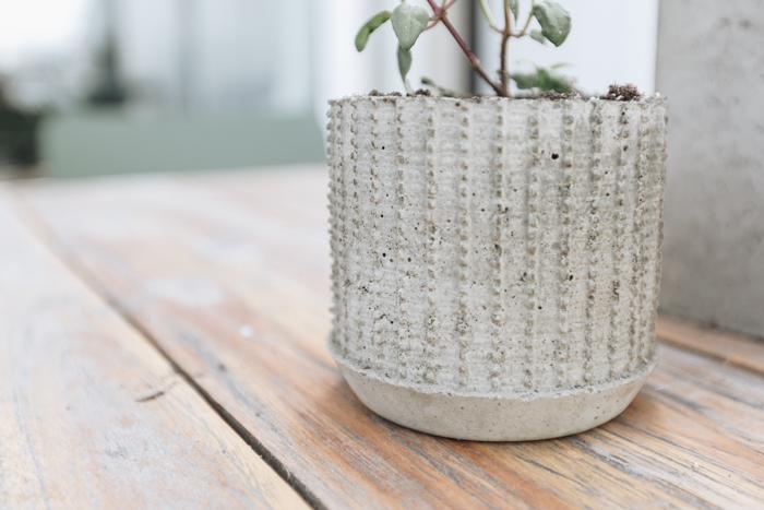 Creative DIY concrete planter idea