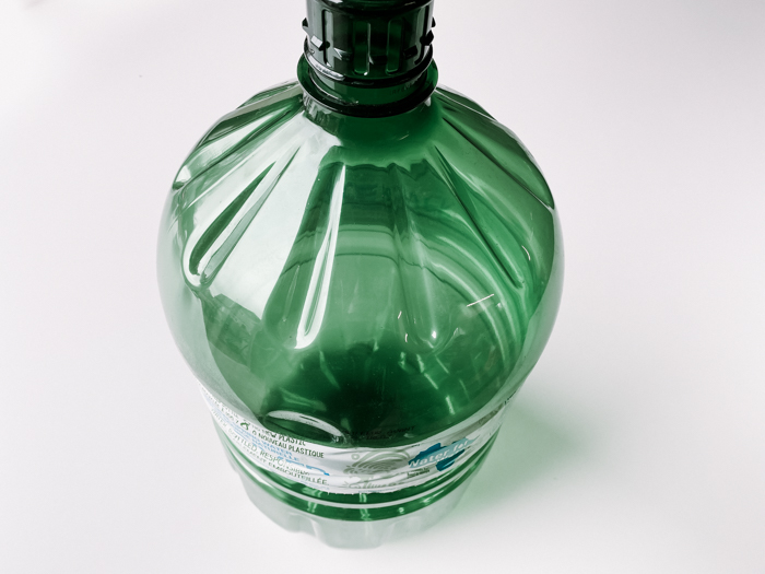 plastic water bottle for concrete planters