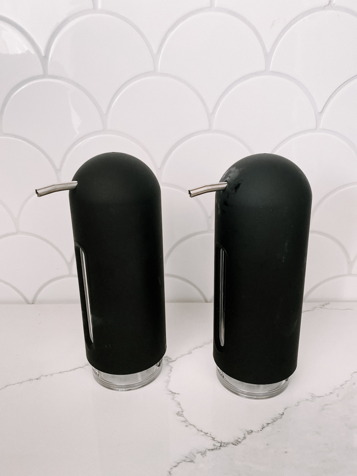 matte black soap dispensers