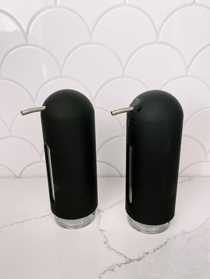 matte black soap dispensers