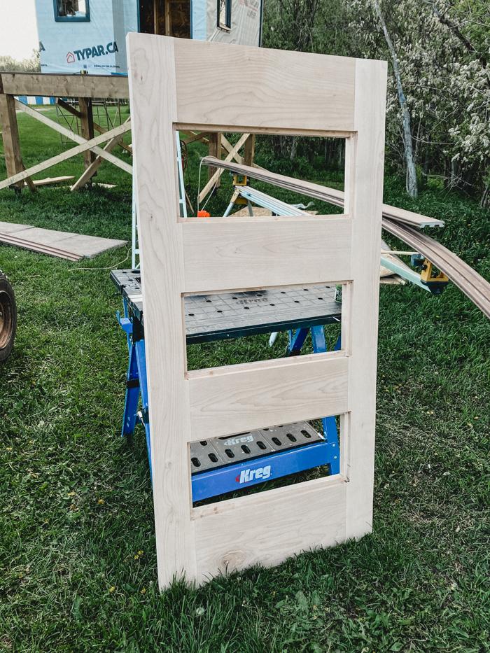 DIY door for modern playhouse