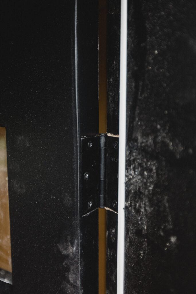 modern black hinges