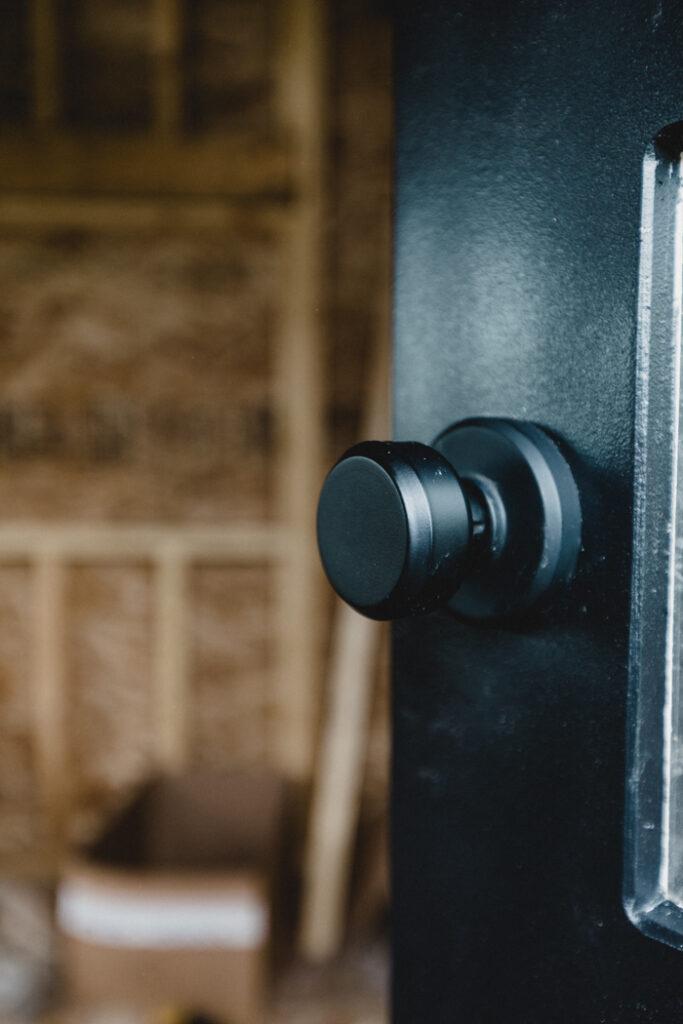 modern matte black door knobs