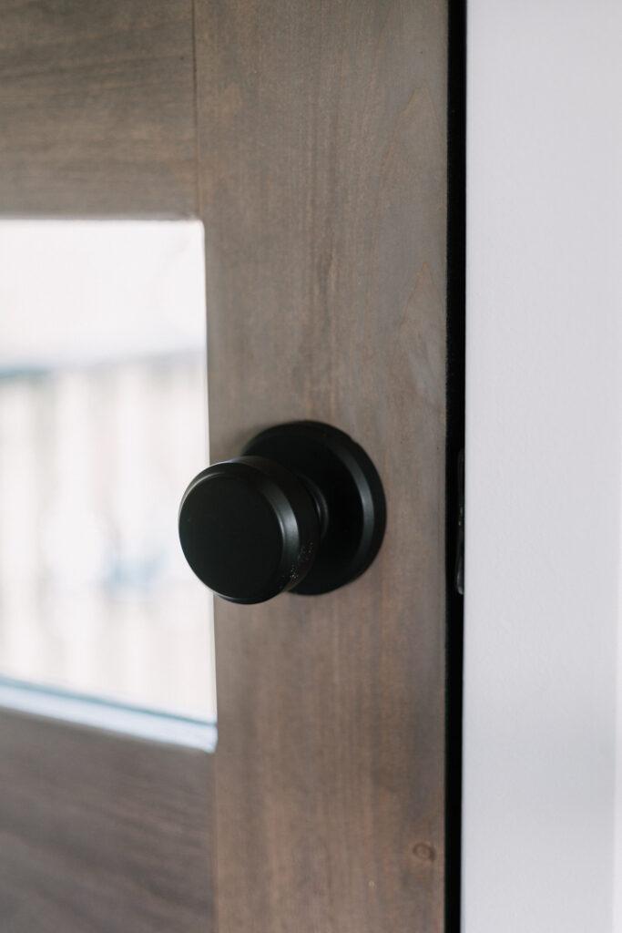 Beautiful black knob