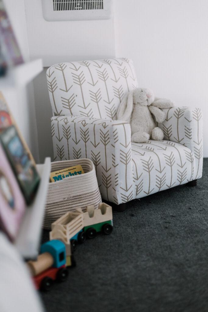 modern kids arm chair