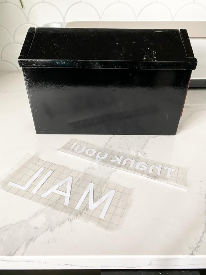 applying vinyl with transfer tape