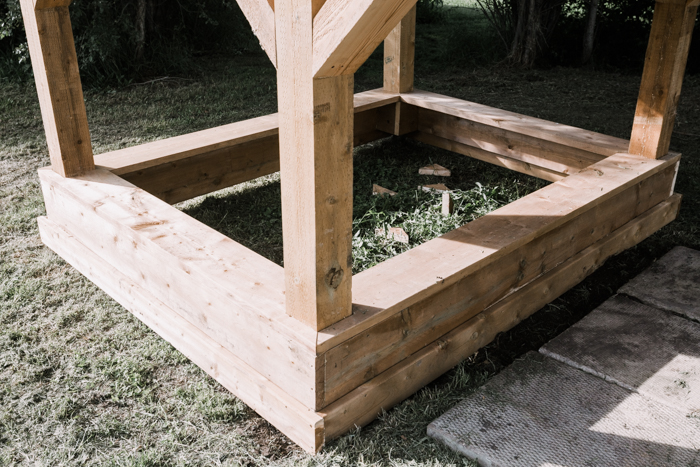 sandbox under playhouse