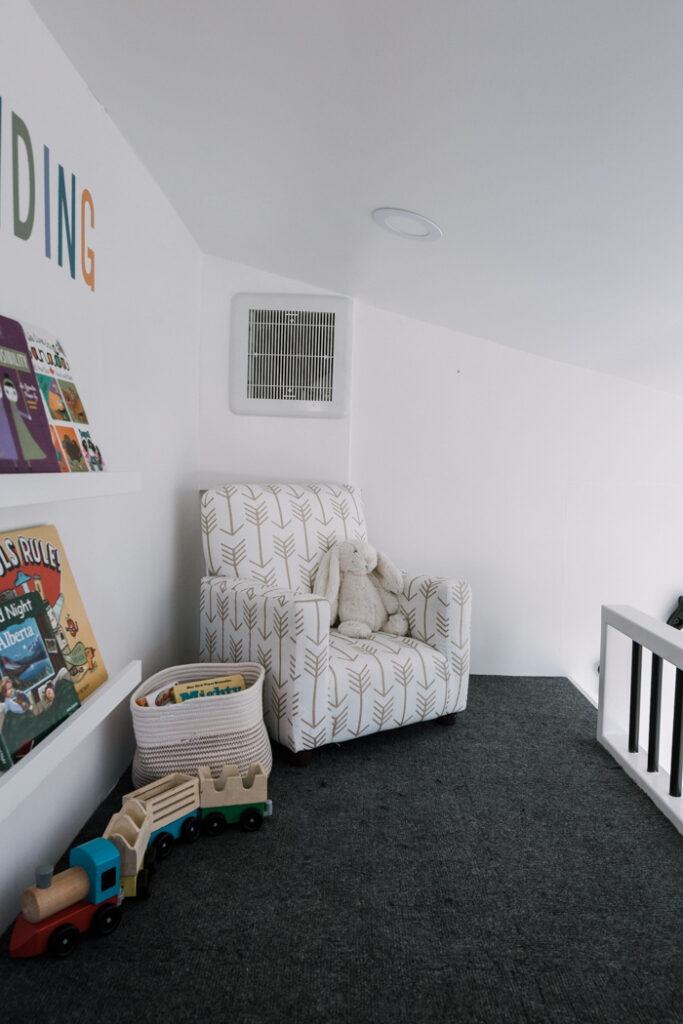 reading nook with kids arm chair
