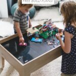 kids playing with lego table