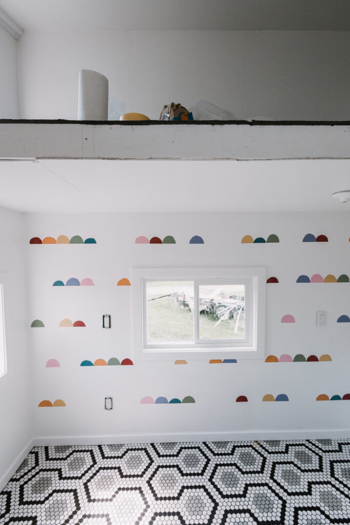 DIY kids feature wall with paint