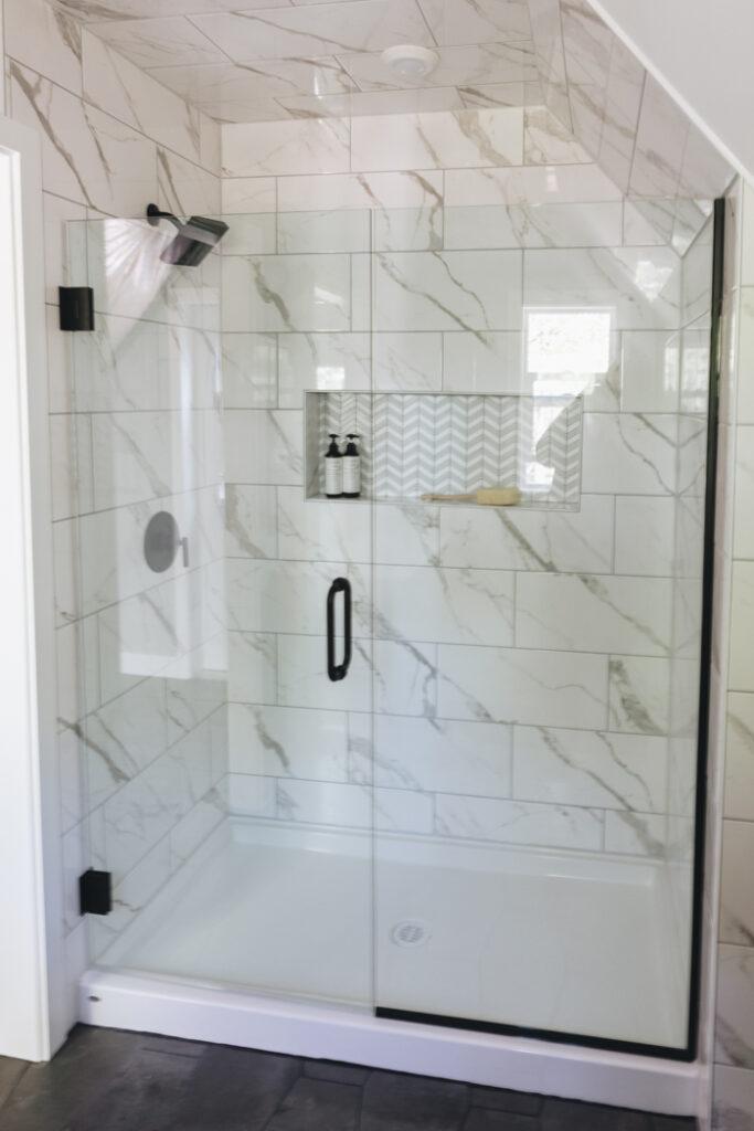 Modern Farmhouse Tiled Shower