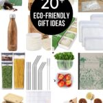 collage of eco-friendly products with text reading 20 eco-friendly gift ideas