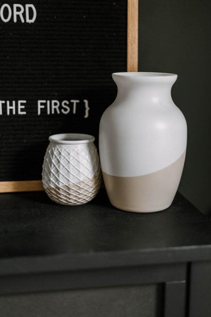 DIY modern vases