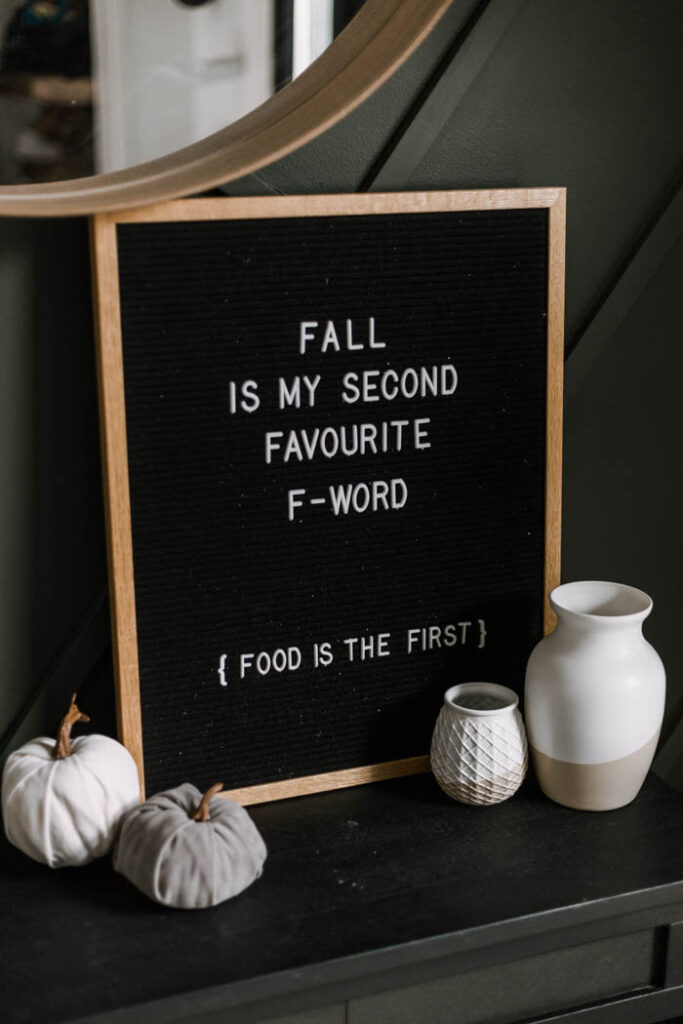 Funny fall letterboard idea
