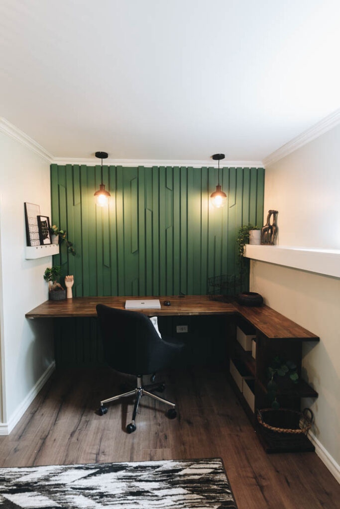 amazing home office DIY feature wall