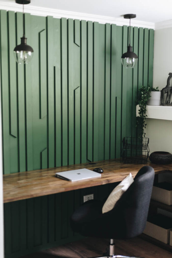 green accent wall design