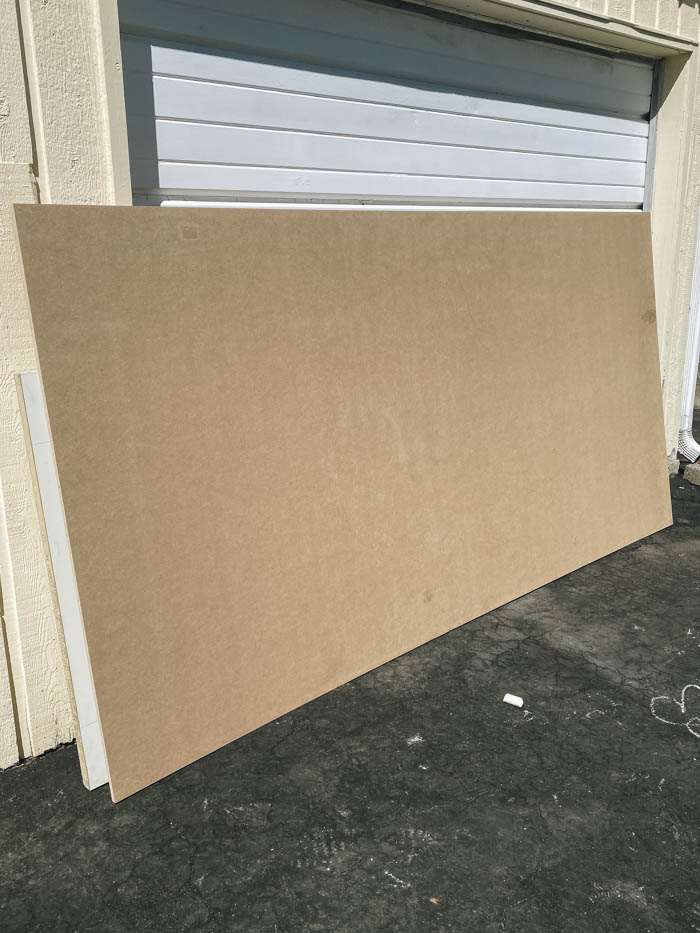 MDF for easy DIY home office feature wall