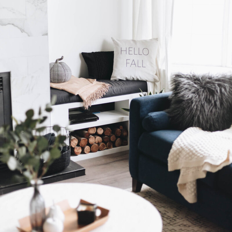 modern fall decor ideas for the living room