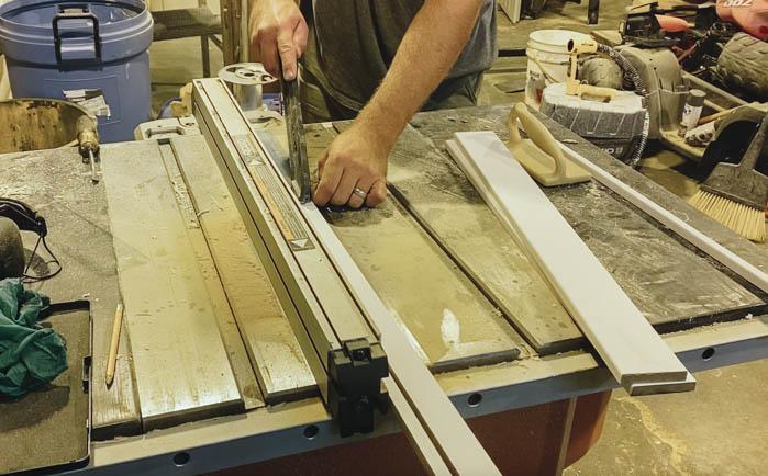cutting MDF for slatted furniture DIY