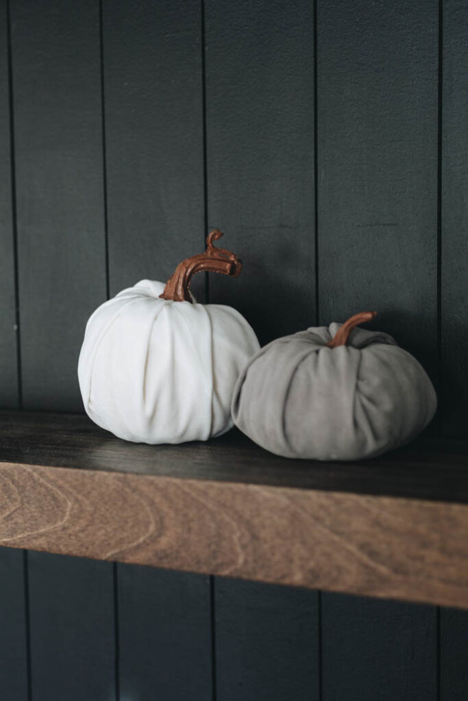 grey and white pumpkins for fall
