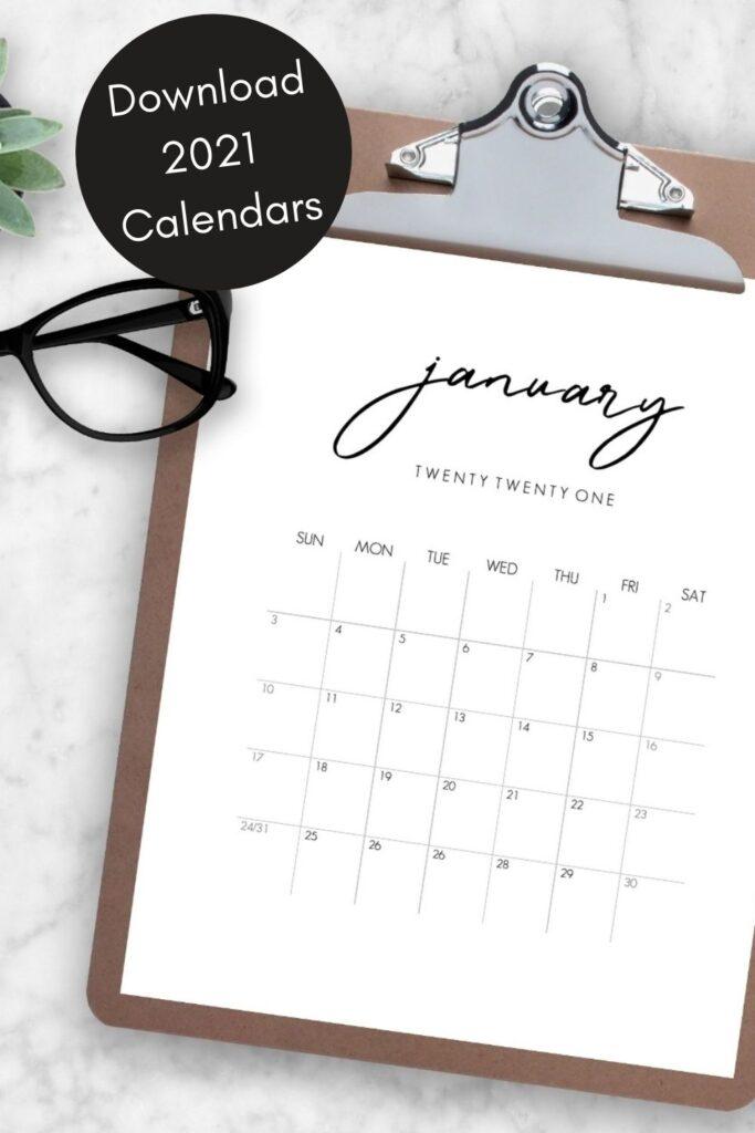 Download a beautiful 2021 Calendar now