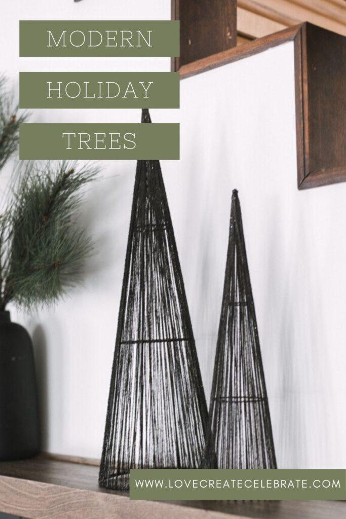 DIY modern mini Christmas trees