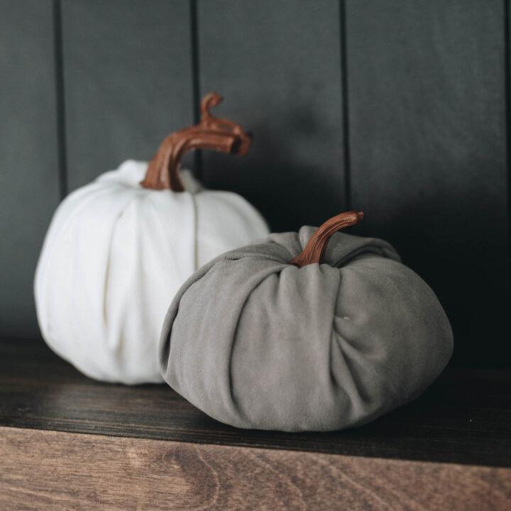 modern white and grey pumpkin