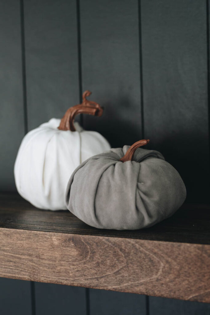 white and grey pumpkins