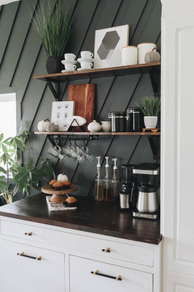 easy fall coffee station decor